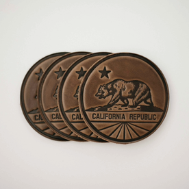 California Leather Coasters