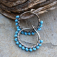 turquoise everyday small hoops