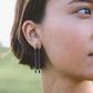 Lapis Chain Earrings