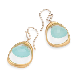 Light Blue and Gold Earrings