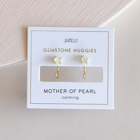 Mother of Pearl Gold Hoops