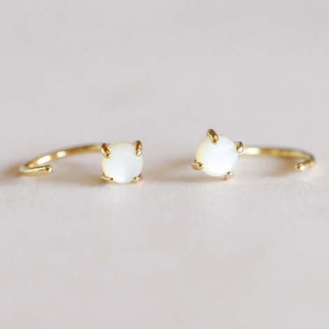 Mother of Pearl Mini Hoops