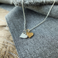 Gold and Silver Hearts Necklace
