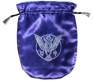 Eastgate Resource Blue Satin Owl Tarot Bag