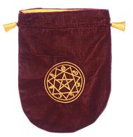 Eastgate Resource Burgundy Velvet Sigilum Tarot Bag