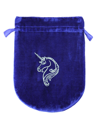Eastgate Resource Blue Velvet Unicorn Tarot Bag
