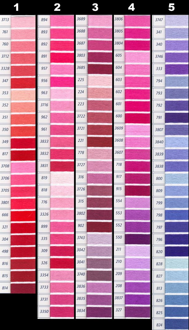 DMC Perle Threads Color Chart