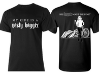 HIS BAGGER MADE ME DO IT T-SHIRT