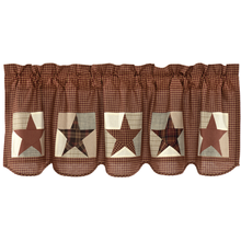 Patch Block & Star Valance - Abilene Star- 20x60- VHC
