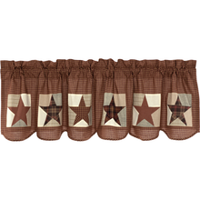 Patch Block & Star Valance - Abilene Star- 20x72- VHC