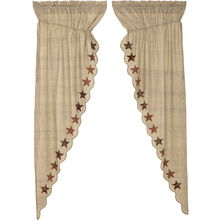 Long Panel Prairie Curtain- Abilene Star- 84x36x18 - VHC