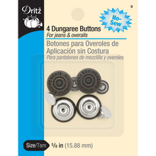 """5/8"""" Dungaree Buttons"""
