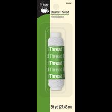 Elastic Thread, White, 30yd