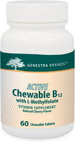 ACTIVE Chewable B12 with L-Methylfolate - 60 Tabs By Genestra Brands