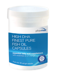 High DHA Finest Pure Fish Oil Capsules - 90 Capsules By Pharmax