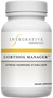 CORTISOL MANAGER™   Cortisol Manager is formulated with stress-reducing ingredients and botanicals to promote relaxation, help alleviate fatigue, and support healthy cortisol levels.* By balancing cortisol levels, Cortisol Manager can help reduce stress, which supports a restful nights sleep without diminishing daytime alertness.*
