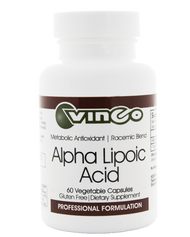 Alpha-Lipoic Acid by Vinco 60 Vege Capsules