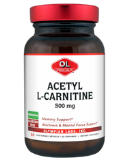 Acetyl L-Carnitine 500 Mg By Olympian Labs - 60 Capsules