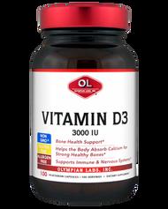 Vitamin D3 3000 Iu By Olympian Labs - 100 Capsules