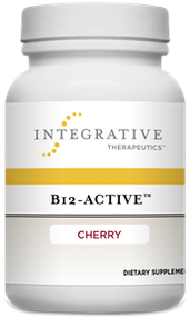 B-12 Active by Integrative Therapeutics 1000 mcg ( 1mg ) 30 Chewable Tablets Cherry Flavored