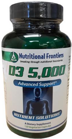 D3 5000 by Nutritional Frontiers 120 Capsules