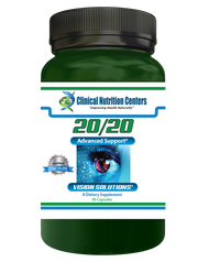 An image of the front label of the 20/20 vision supplements from Clinical Nutrition Centers.