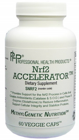 Nrf2 supports the production of and the expression of glutathione, SOD and catalase. Nrf2 support is like a sprinkler system in a building, as it expresses the antioxidants when there is oxidative stress. Studies have shown that the longest living species of animals have a higher production of Nrf2.