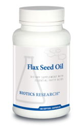 Flax Seed Oil Caps by Biotics Research 100 Tablets
