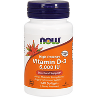 Vitamin D-3 5000 IU By NOW 240 softgels