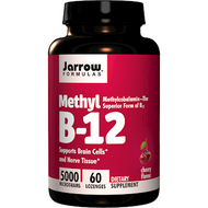 Methyl B-12 5000 mcg By Jarrow Formulas 60 lozenges