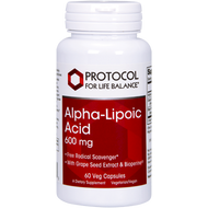 Alpha-Lipoic Acid 600mg by Protocol for Life Balance 60 vcaps