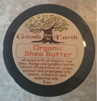 "An organic ""dream cream"" for all types of dry skin.  Whipped with ALL ORGANIC ingredients, including:  Raw shea; Mango and pumpkin butter; Herbal infused olive oil; Argan; Coconut and grapeseed oils; Lanolin; Vitamin E; Essential oils of sweet orange  Instructions:  Apply to areas of skin where a moisturizing cream is desired."