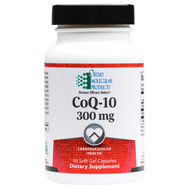 CoQ-10 300 mg by Ortho Molecular 60 softgel capsules