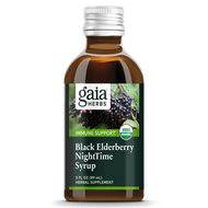 Black Elderberry Night Time Syrup by Gaia Herbs 3 oz - Immune System Support