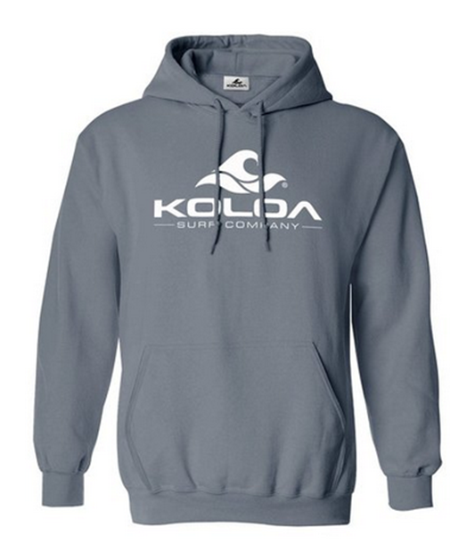 68085ab8d9773 ... Koloa Surf Pigment-Dyed Hoodies - Classic Wave Logo Pullover Hooded  Sweatshirts in Sizes S-4XL. Coal / White logo