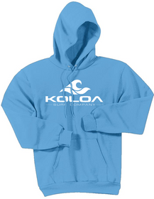 Aquatic Blue with White logo