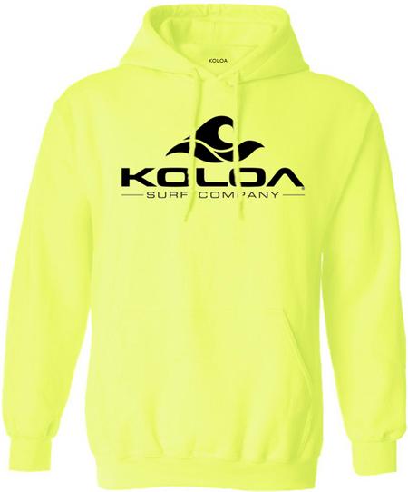 Koloa Surf Co. Classic Wave Logo Hooded Sweatshirts - Safety Green ... cc3cd5b05bb0