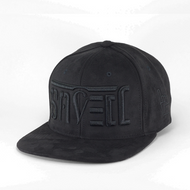 SAVED Ambigram Snapback (Black SUEDE)