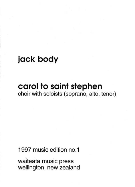 Carol to St Stephen (PDF)