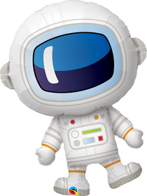 "XL 37"" Qualatex Adorable Astronaut Super Shape Mylar Foil Balloon"