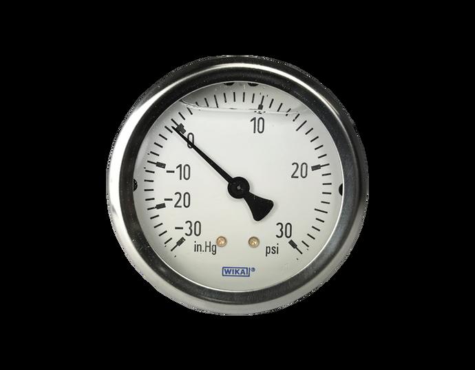 WIKA Type 213.53 Utility Pressure Gauge 0-30 in Hg Vacuum / 30 PSI 4236557
