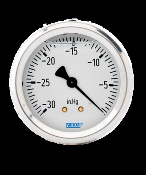 WIKA Type 213.53 Utility Pressure Gauge 0-30 in Hg Vacuum 9767185