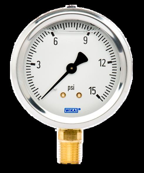 WIKA Type 213.53 Utility Pressure Gauge 0-15 PSI 9767037