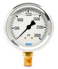 WIKA Type 213.53 Utility Pressure Gauge 0-3000 PSI 9767150