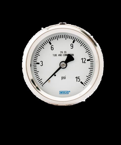 WIKA Type 232.53 Stainless Steel Industrial Gauge 0-15 PSI 9768351