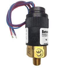 Barksdale Series 96211 Compact Pressure Switch, 22.5 to 125 PSI, 96211-BB4-W24