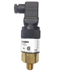 Barksdale Series 96221 Compact Pressure Switch, 1 to 30 In Hg Vacuum, 96221-BB1-T2-E
