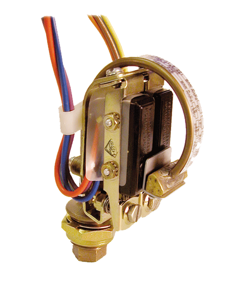 Barksdale Series B2S Bourdon Tube Pressure Switch, Stripped, Dual Setpoint, 325 to 6500 PSI, B2S-C65SS-P4-CS