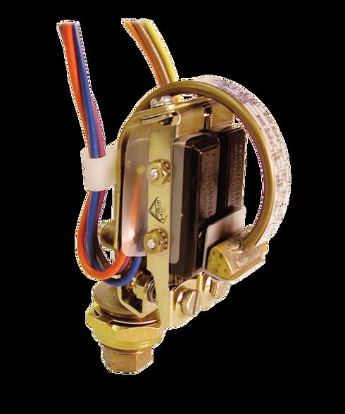 Barksdale Series B2S Bourdon Tube Pressure Switch, Stripped, Dual Setpoint, 50 to 1200 PSI, B2S-M12SS-TC