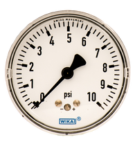 WIKA Type 611.10 Low Pressure Gauge 0-10 PSI 4204221